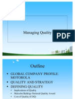 Managing Quality PPT @ BEC DOMS
