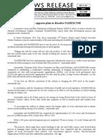 February 23 Lawmaker opposes plan to dissolve NADESCOM