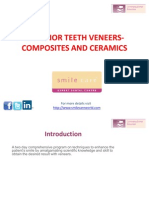 Anterior Teeth Veneers Composites and Ceramics