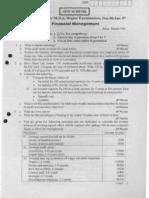 fianacial management vtu question papersfm-dec-jan-06-07