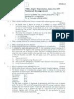 fianacial management vtu question papersfm-jul-09