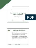 Petroleum Fiscal Regimes