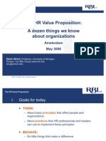 HR Value Proposition Ulrich