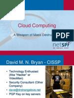 DEFCON 18 Bryan Anderson Cloud Computing