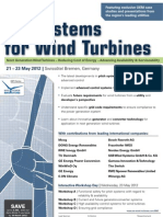 2nd International Conference E/E Systems for Wind Turbines