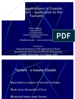 Web-GIS Applications in Disaster Management - Application to the Tsunami