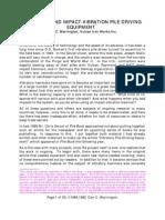 Vibration and Vibroimpact D Warring Ton Paper