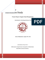 Supply Chain Management Project Report  Distributor  Automation Study at kelloggs India