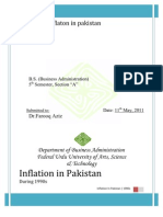 Inflation in Pakistan During 1990s to 2000