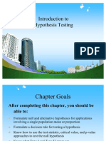 Introduction to Hypothesis Testing PPT @ BEC DOMS