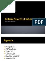 6-Critical Success Factor Analysis