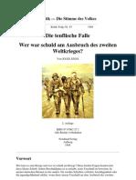 Thies Christophersen - Die Teuflische Falle - Wer War Schuld Am Ausbruch Des 2. Weltkrieges (1988, 17 S., Text)