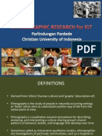 Ethnographic Research for Elt