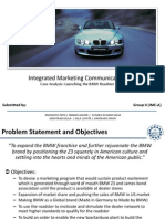 IMC Case Analysis BMW Z3 Roadster