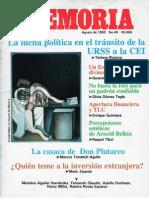 Memoria, nº 045, agosto 1992