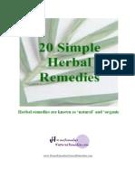 20 Simple Herbal Remedies