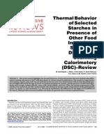 Thermal Behav Starch