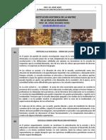 93. ESCUELA MODERNA, MATRIZ Y CONSTITUCION HISTORICA