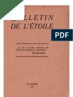 Bulletin de L'Étoile N°1 Octobre 1931 par J. Krishnamurti