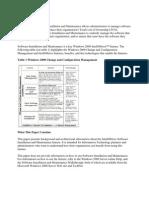 Software Installiation & Maintainance