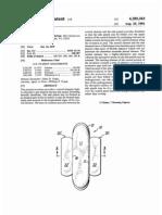 Sanitary napkin (US patent 4285343)
