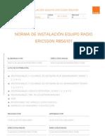 EP-11-0213 Norma de instalación equipo Ericsson RBS6101_V1