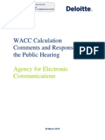 WACC_Calculation_DELOITE Macedonija Telecom 2009