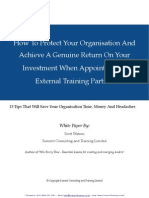 Appointing a Training Partner White Paper-Sep 2011