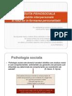 IV. 2. CONDUITA PSIHOSOCIALA - Relatiile Inter Person Ale Si Rolul Lor in Formarea Personalitatii