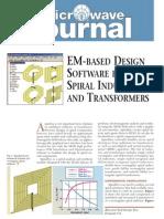 [MWJ0505] EM-Based Design Software for Spiral Inductors and Transformers