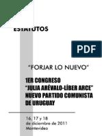 Estatutos del Nuevo Partido Comunista de Uruguay