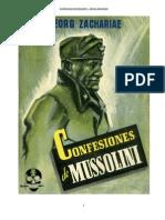 Confesiones de Mussolini – Georg Zachariae