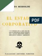 El Estado Corporativo. Benito Mussolini