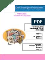 Unidad III Estados Financieros