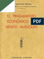 El pensamiento económico de Benito Mussolini