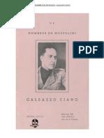 Hombres de Mussolini Galeano Ciano 1939