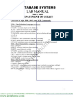 JNTU B.tech DBMS Lab Manual All Queries and Programs