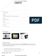 Professional & Clean HTML CV RESUME Preview - The Me Forest