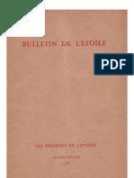 Bulletin de L'Étoile N°1 Janvier-Février 1933 par J. Krishnamurti