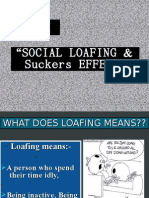 Social Loafing and Sucker Effect