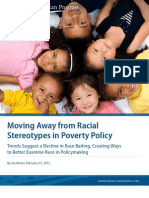 Moving Away from Racial Stereotypes in Poverty Policy
