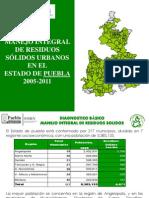 Manejo Integral de Residuos en El Estado de Puebla