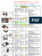 Peter SUNVELL Tablet PC New Model List July 3 2011