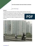 Urbanization at the heart of the economy