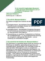 Kurz-Argumentarium Initiative 11. März 2012