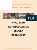 Projecto Curricular 20062009