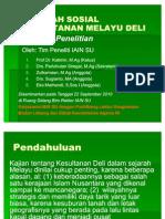 Sejarah Sosial Kesultanan Melayu Deli