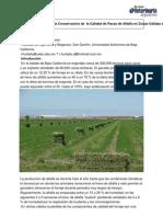 Alternativa Practica y Su Impacto Economico en La Conservacion de La Calidad de Pacas de Alfalfa en Zonas Calidas Del Noroeste de Mexico