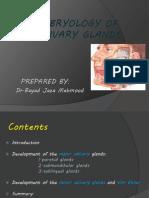 Embryology of Salivary Glands - Copy