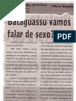 Bataguassu, vamos falar de sexo?